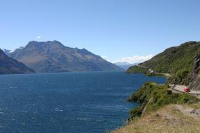 Highway along Lake Wakatipu
