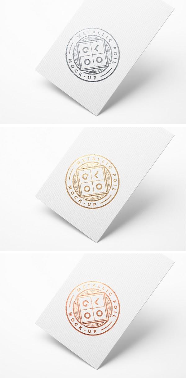 Free Metallic Logo MockUp