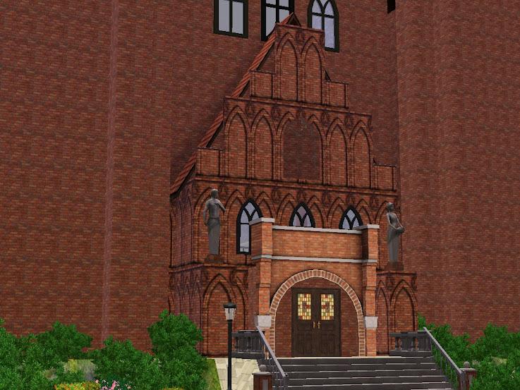 portal gotische kathedraal binnenkomst