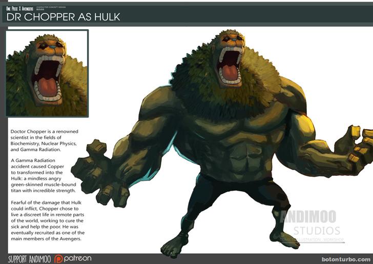 Dr. Chopper como Hulk