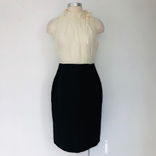 Carolina Herrera Black & White Sheath