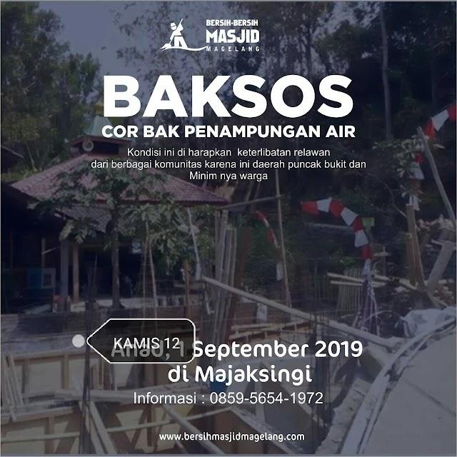 Aksi Peduli saudara kita di Keruk Batur, Wajaksingi, Borobudur, Pegunungan Menoreh Kabupaten Magelang untuk menikmati air bersih dengan pengecoran Bak Penampungan Air