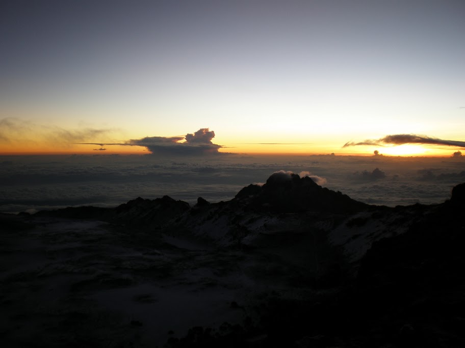 Kilimanjaro - Day 6 - Summit Day! - Sunrise on the summit