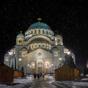 St. Sava Temple - Belgradian by Dragana Trajkovic - City,  Street & Park  Night ( serbia, belgrade )