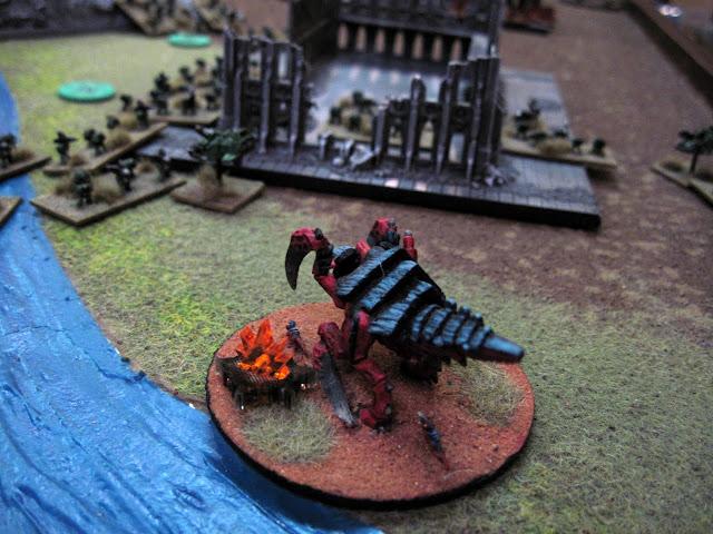 Jon's Heirodule faces down my Subjugators.