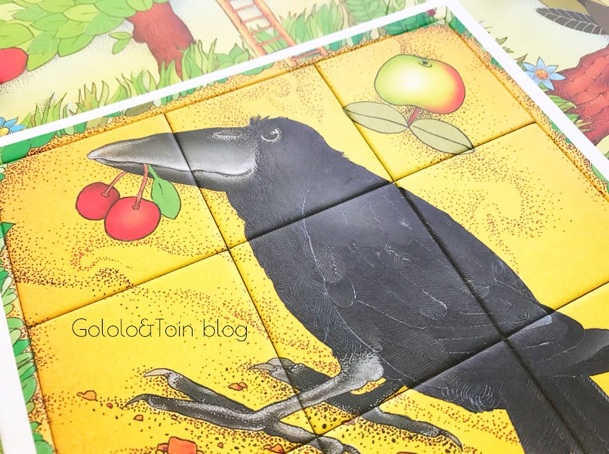 puzzle del cuervo en el juego colaborativo para niños El Frutal
