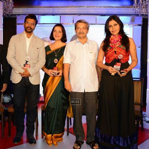 Jaaved Jaffrey and Nisha Jamwal during the India Leadership Conclave, held at Hilton, in Mumbai. (Pic: Viral Bhayani)