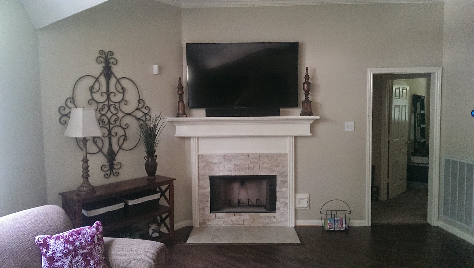 tv mounted above fireplace pros u0026 cons texags