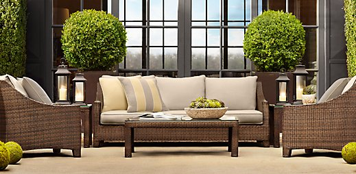 Three dogs in a garden let 39 s go shopping - Restoration hardware patio ...