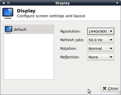 Xfce4 Display