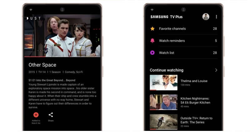 Samsung TV Plus chega a linha Galaxy