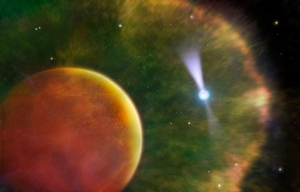 ilustração do pulsar e anã marrom