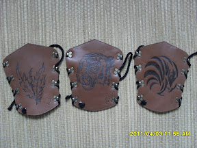 Very rare fully handmade - Arm guards with pattern category III - extra