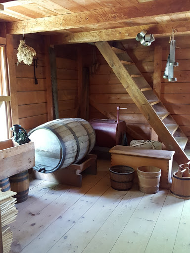 General Store (1889) - I loved being inside and seeing what was available for people to buy - the brown barrel was molasses; the red thing behind it was a washing machine. From Acadian History Comes Alive in a New Brunswick Village