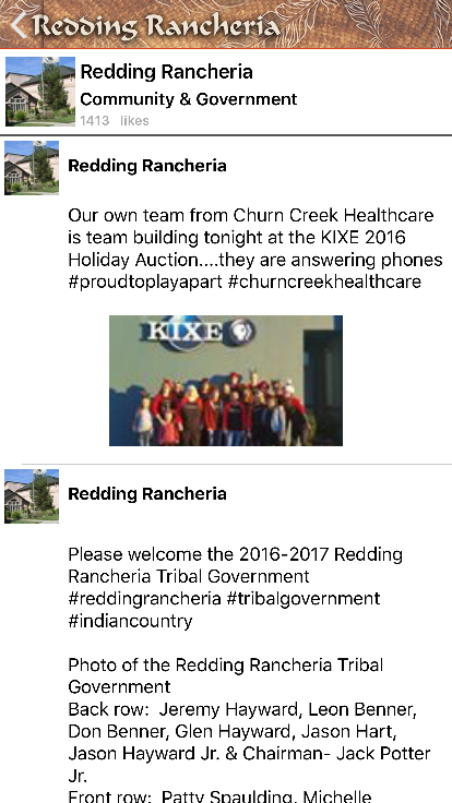 Redding Rancheria- screenshot