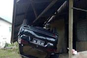 Kecelakaan Tunggal, Pajero Sport Warna Hitam Hilang Kendali