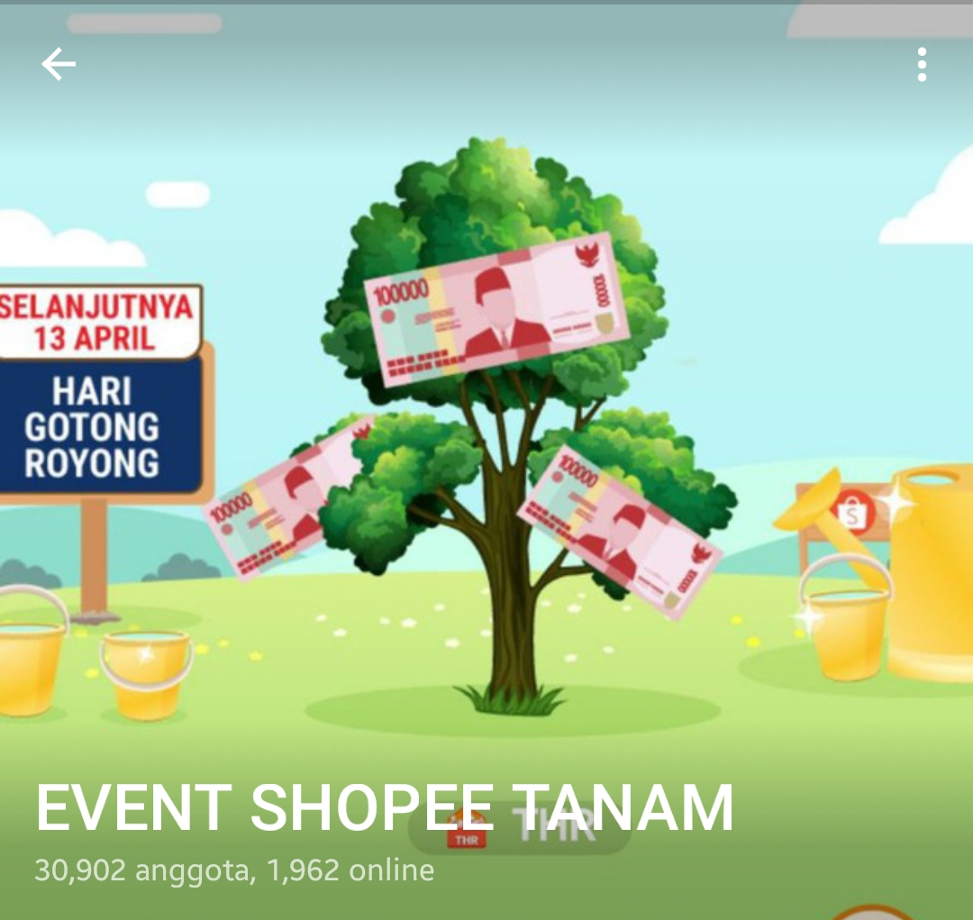 Grup Telegram Shopee Tanam Siram Link Tautan