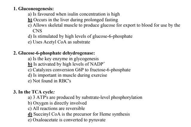 اسئلة mcq biochemistry