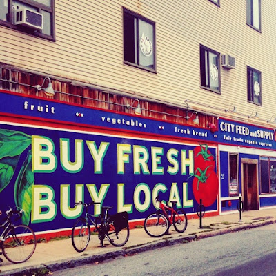Buy Fresh Buy Local Mural in Jamaica Plain