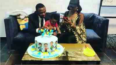 Ubi Franklin And Lilian Esoro Come Together To Celebrate Son's Birthday