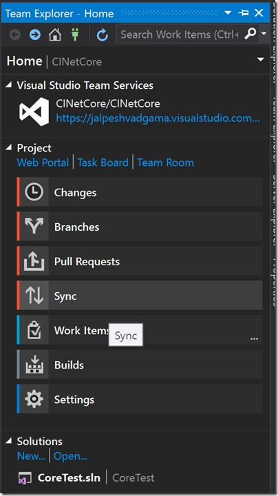 team-explor-visual-studio-after-create