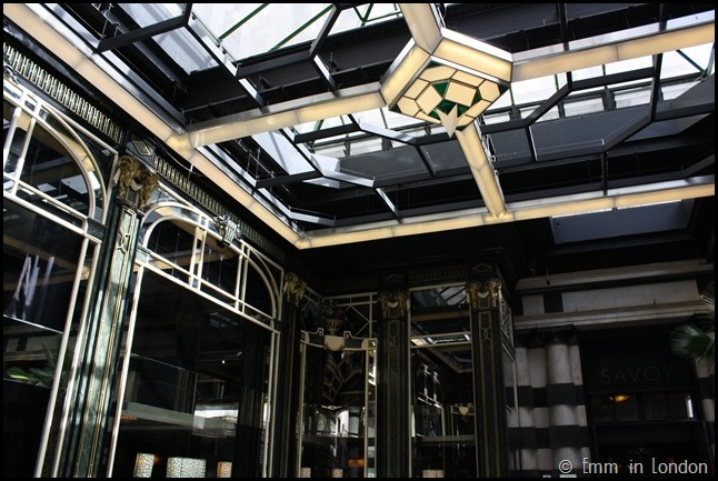 The Art Deco glass and chrome of the Savoy