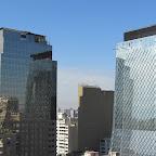 Santiago de Chile - Blick vom 18. Stockwerk über die Stadt