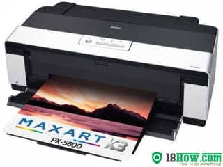 How to reset flashing lights for Epson PX-5600 printer