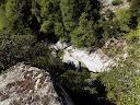 ...un beau point de vue sur le tronçon de rivière que nous allons traverser
