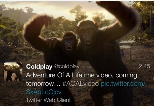 coldplay twitter