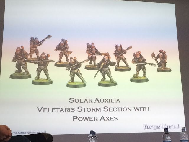Modell H Forgeworld Solar Auxilia Veletaris Storm Section with Power Axes