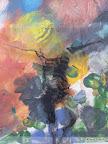 """Mensch"", Glas Schwarzlot, Farbe, MDF 2006/09"
