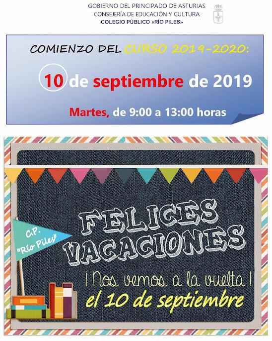 Calendario Escolar Asturias 2020 2019.Infopiles Calendario Escolar