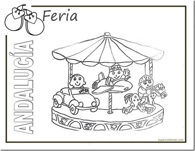 feria andalucia Dibujos del Día de la Comunidad Autónoma de Andalucía para pintar