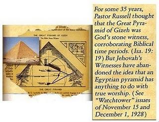 La Wachtower y el ocultismo numerologia y piramidologia unidas aqui las pruebas Piramide