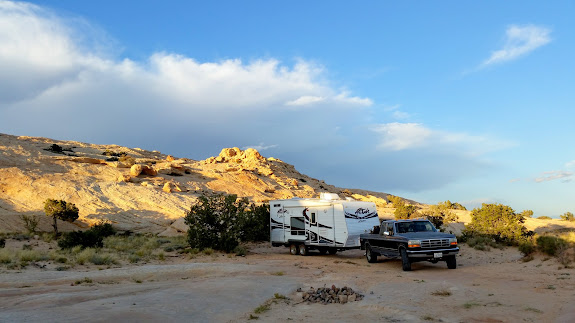 Pulled into camp at sunset on Tuesday evening