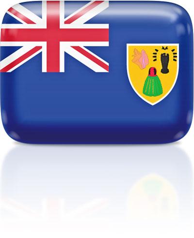 Turks and Caicos Island flag clipart rectangular