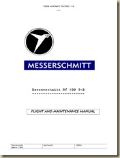 Messerschmitt Me-109 G-2 Flight and Maintenance Manual