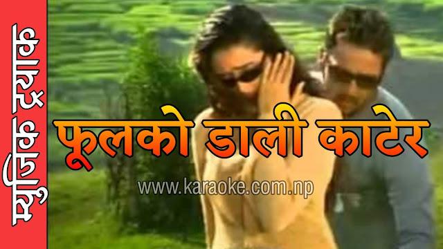 Karaoke of Fulko Dali Katera Mutu Satera by Swaroop Raj Acharya