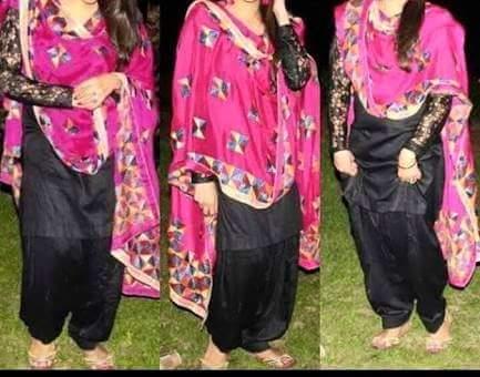 black punjabi suit dp