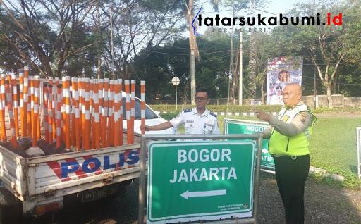 Polres Sukabumi Tambah Rambu Lalu-lintas Jelang Arus Mudik dan Arus Balik Lebaran 2019