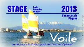 Stage voile optimist päques 2013
