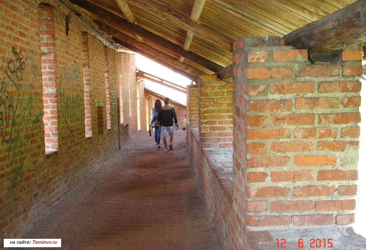 Вид изнутри в стенах кремля Нижнего Новгорода