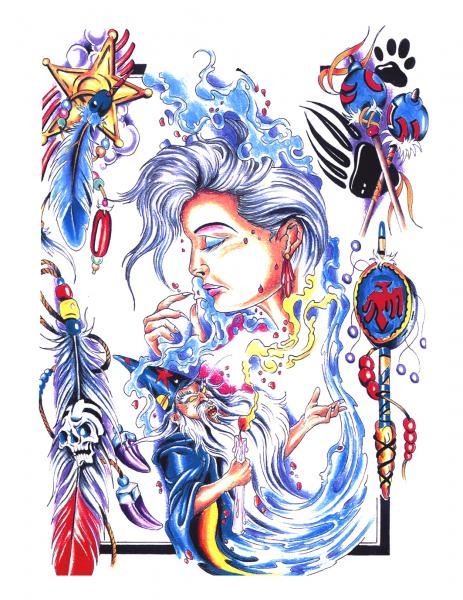 Magick Tattoo Design 6, Fantasy Tattoo Designs