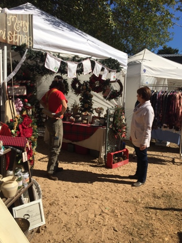 Gypsy Farm Girl and Rooster Tails booth at Backwood's Marketplace