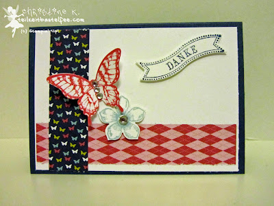 stampin up, inkspire_me 141, papillon potpourri, petite petals, famose fähnchen, bitty banners, thanks, danke