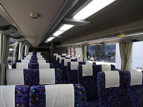 名鉄バス「名神ハイウェイバス京都線」 2115 車内