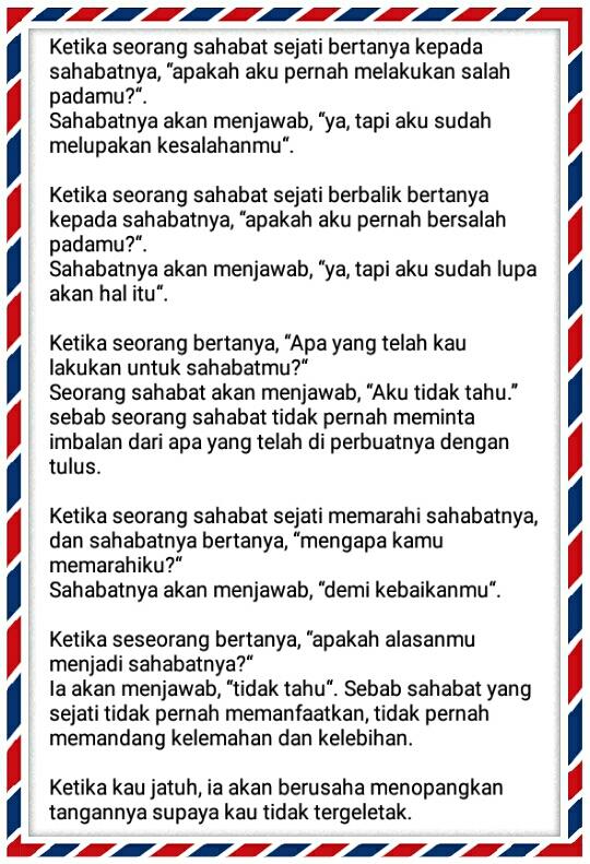 Surat Untuk Sahabat