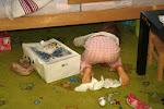 Szukanie jajek pozostawionych przez zająca