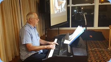 John Holster on Club Night debut, playing the Club's Clavinova CVP-509. Photo courtesy of Rod Moffat.